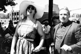 preposterious chris wessells street photography slc salt lake city utah ut woman hat glasses man polka dot suit